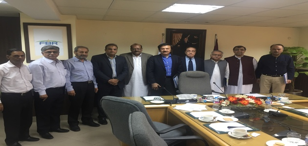 APPPMA delegation led by its  Chairman, Ch Tanvir Ahmad Dhillon with Honorable Minister of state for Finance / Special Adviser to the Prime Minister of Pakistan together with other High level Government Officers and  President / CEO M/s Engro Polymer & Chemicals Limited after the meeting in Islamabad.